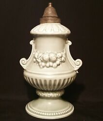 19th C. Antique French German Porcelain Table Lamp Vtg Chinese Celadon Pottery