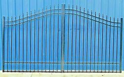 Home Security Wrought Iron Style Steel Driveway Gate 11and039 Or 12and039 Wd Vet Discount