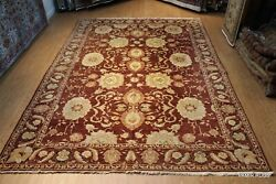10and039x14and039 Handmade Fine Quality Wool Rug Chobi Great Deal Maroon And Green Pm75
