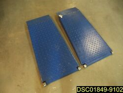 Pair Of Heavy Duty Diamond Plate Steel Ramps 41 Long Overall