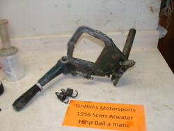 1956 Scott Atwater Bail A Matic 16hp Outboard Tiller Arm Steering Carry Handle