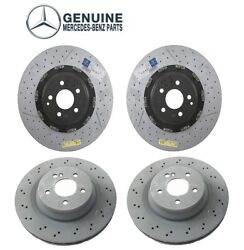 New Front And Rear Brake Disc Rotors Kit Genuine For Mercedes W219 Cls55 Amg 2006