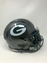 Green Bay Packers Authentic Speed Riddell Grey Hydro Dipped Full Size Helmet