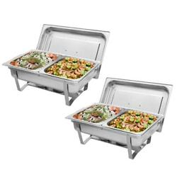 2pack Catering Stainless Steel Chafer Chafing Dish Sets 9l/8qt 2020