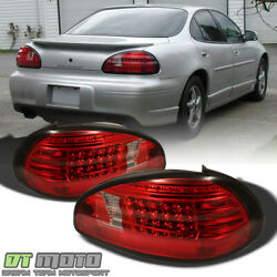1997-2003 Pontiac Grand Prix Led Red Clear Tail Lights Brake Lamps Left+right