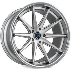 4ea 19x9.5 Rohana Wheels Rc10 Machined Silver Rims S1