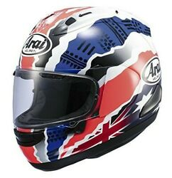 Arai Signet Q Motorcycle Xl Helmet Red White And Blue Used