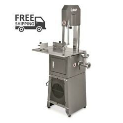 Electric Meat Cutting Band Saw And Grinder Picnic Bbq Steak Burger Outdoor Camp