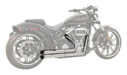 Bassani Pro Street Exhaust System Chrome W/turn Out Ends 1s34d