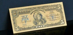 An ☆amazing ☆ 《1899 Silver Certificate》 Indian Chief 5 Rep.banknote - ☆bno