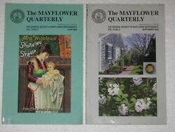 Lot Of 2 The Mayflower Quarterly Magazines Mrs Winslows Soothing Syrup 204