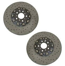 Pair Set of 2 Genuine Front Drilled Brake Disc Rotors For BMW F06 F12 F13 M6 GC