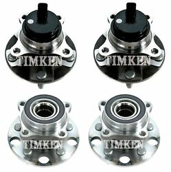 Front And Rear Wheel Bearings And Hubs Kit Timken For Lexus Gs350 Gs460 Is250 Rwd