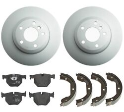 Genuine Rear Brake Kit Disc Rotors Pads And Parking Shoes For Bmw E70 E71 X5 X6