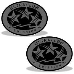 Ultra Low Emission 3 Star California Dot Outboard Graphic Sticker Decal - Grey