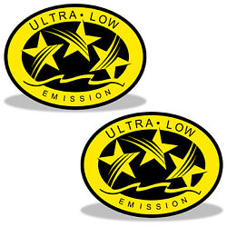 Ultra Low Emission 3 Star California Dot Outboard Graphic Sticker Decal - Yellow