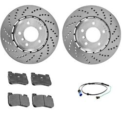 Genuine Front Brake Kit Disc Rotors Pads And Sensor For Bmw F90 M5 Basecompetition
