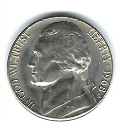 1968-s Uncirculated Business Strike Jefferson Nickel Five Cent Coin