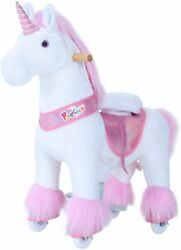 Ponycycle Pink Unicorn Ux Series Kids Manual Ride On Horse Small 3-5 Year New