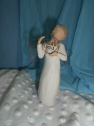 Willow Tree,thank You Angel,carved Wood Wings, Just For You Gratitude  5960