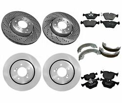 New Genuine Front And Rear Brake Kit Disc Rotors Pads And Shoes For Bmw E46 M3 03-04