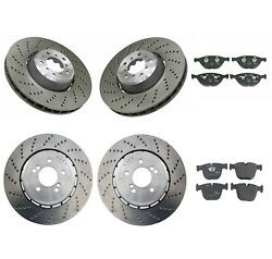 Genuine Front And Rear Brake Kit Disc Rotors And Pads For Bmw E60 E61 E63 E64 M5 M6