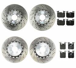 Genuine Front And Rear Brake Kit Drilled Disc Rotors Pads For Bmw F87 M2 2016-2017