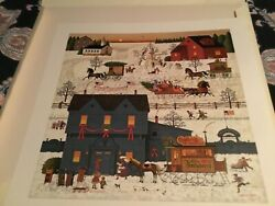Charles Wysocki 1984 A Warm Christmas Love printers proof signed 2 of 2