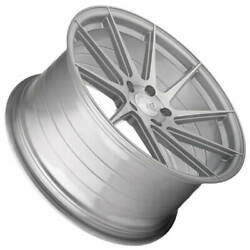 4ea 20 Staggered Avant Garde Wheels M621 Brushed Liquid Silver Rims S3