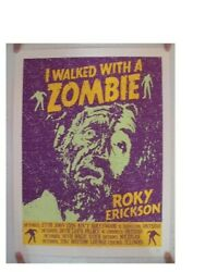 Roky Erickson Silkscreen Poster I Walked With A Zombie Signed Artist Proof