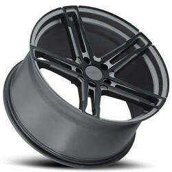 4ea 20 Staggered Tsw Wheels Mechanica Matte Black Rotary Forged S1