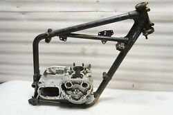 1970 TRIUMPH T100C ENGINE CASES AND FRONT FRAME SECTION VB51