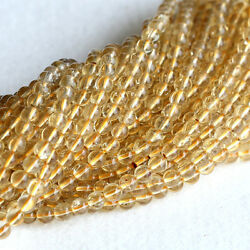 Aaa High Quality Natural Genuine Clear Yellow Scapolite Round Small Loose Beads