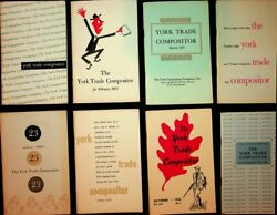 York Composition Company / Group Of 15 Issues Of The York Trade Compositor 1st