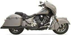 Bassani Black True Duals 2 Into 2 Exhaust System Indian 14+ Chieftain Roadmaster