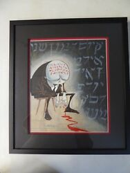 Gris Grimly Framed Original One of a kind Mixed Media 3d effect collage painting