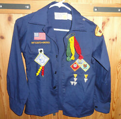 Boy Scout Cub Scout Webelos Blue Shirt W/ Many Patches Size 12 Tecumseh, Ohio
