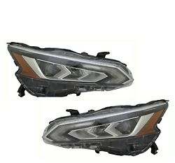 Fit Nissan Altima 2019-2021 Left Right Led Headlights Head Lights Lamps Pair