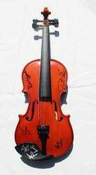 Kansas Band Real Hand Signed Violin Coa Autographed By 6