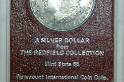 Mint State Rainbow Toned 1891-s Silver Dollar From The Redfield Hoard Mdx3861