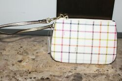Coach Peyton Tattersall Small Wristlet No F48588 SB9