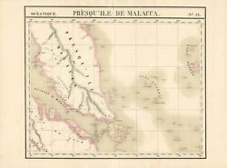 1827 Vandermaelen Map Of The Straits Of Malacca And Singapore