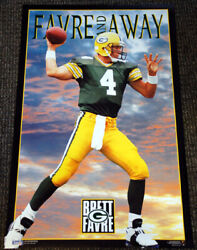 Brett Favre Favre And Away 1995 Green Bay Packers Costacos Brothers Poster