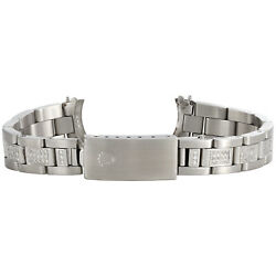 Ladies Stainless Steel Diamond Oyster Watch Band To Fit Rolex Datejust 1.89 Ct.