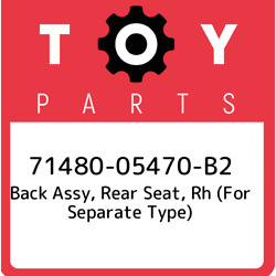 71480-05470-b2 Toyota Back Assy Rear Seat Rh For Separate Type 7148005470b2