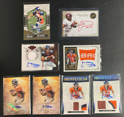 Eric Decker 2010 2011 2012 Rookie Autograph Lot 8 Low-numbered Patch Autos