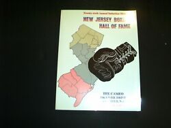 1995 26th Annual New Jersey Boxing Hall Of Fame Dinner Program W/ Autograph