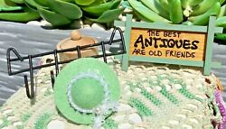 Vintage Miniature Dollhouse Accessories - Beautiful Wall Sign Coat/hat Rack For