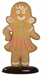 Gingerbread Woman Christmas Cookie Display Prop Decor Statue