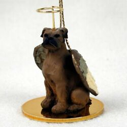Boxer Tawny Uncropped Dog Figurine Angel Ornament